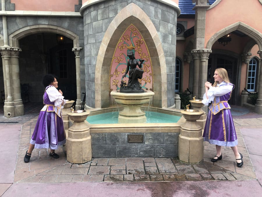 Fantasyland cast members Nicole and Shannon
