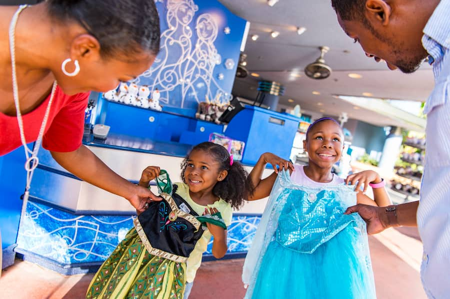 Guests visiting Frozen Fractal Gifts at Disney's Hollywood Studios