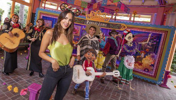 Actress Eiza Gonzalez enjoys Dia de los Muertos celebrations at Disneyland Resort
