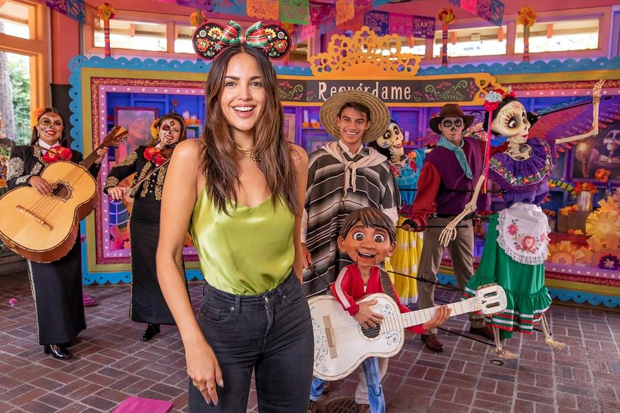 Actress Eiza Gonzalez enjoys Day of the Dead celebrations at Disneyland Resort