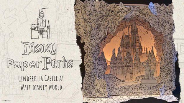 Disney Paper Parks Cinderella Castle