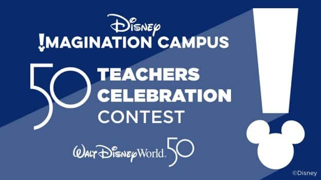 Graphic for the Disney Imagination Campus 50 Teachers Celebration at Walt Disney World Resort