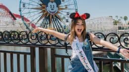 Actress Ariana Greenblatt at Disney California Adventure park