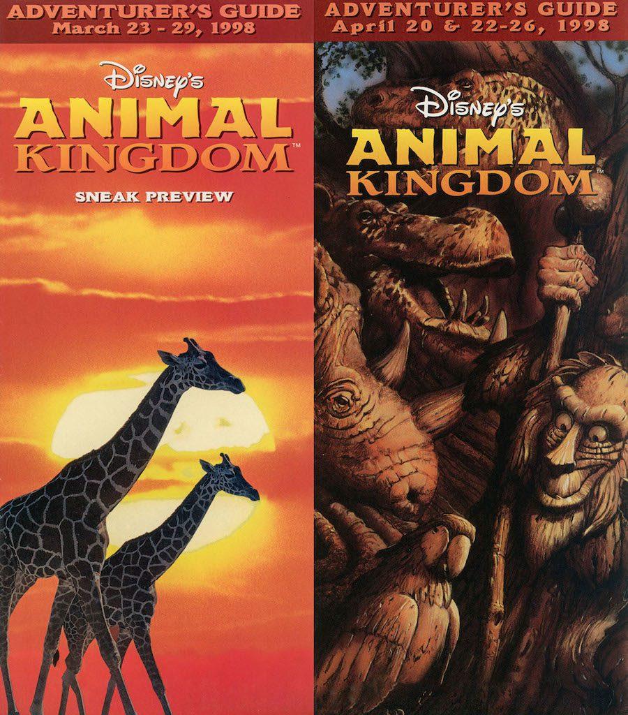 Guide maps of Disney's Animal Kingdom in 1998