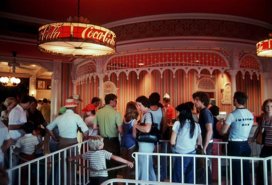 Refreshment Corner at Magic Kingdom Park, 1971