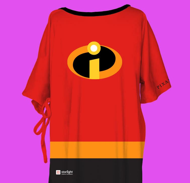 """Pixar-themed Starlight Hospital Wear inspired by iconic Pixar movie """"The Incredibles"""""""