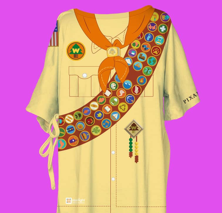 """Pixar-themed Starlight Hospital Wear inspired by iconic Pixar movies """"Up"""""""
