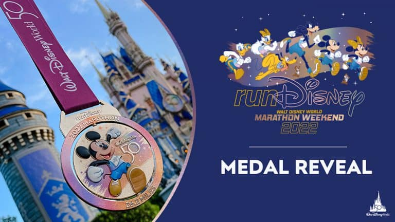 Disney mostra medalhas da maratona de 2022