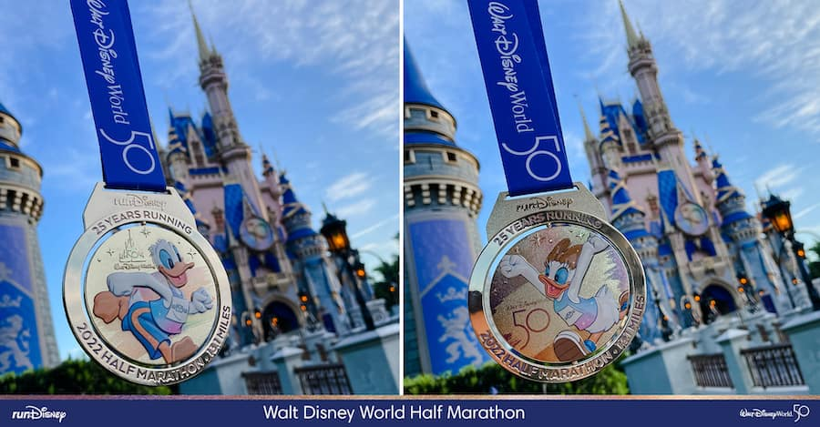 2022 Walt Disney World Marathon Half Marathon finisher medal