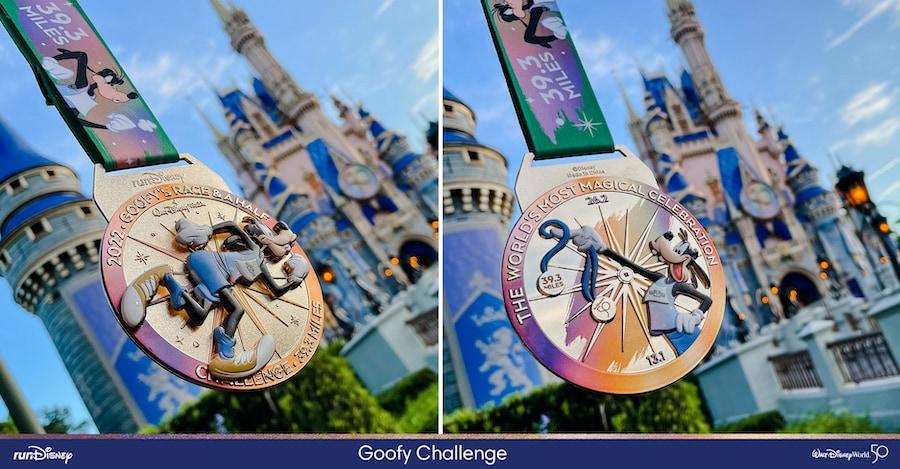 2022 Walt Disney World Marathon Goofy Race finisher medal