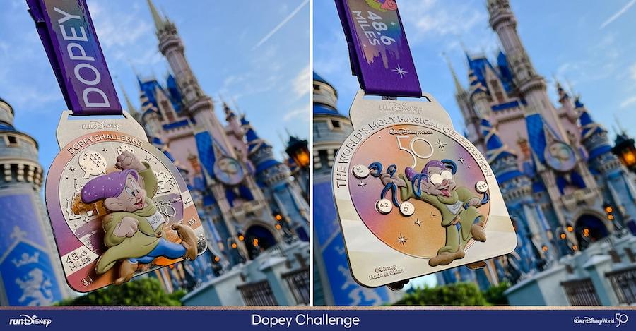 2022 Walt Disney World Marathon Dopey Challenge finisher medal
