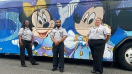 Cast first to see new Disney Transportation 50th anniversary wraps