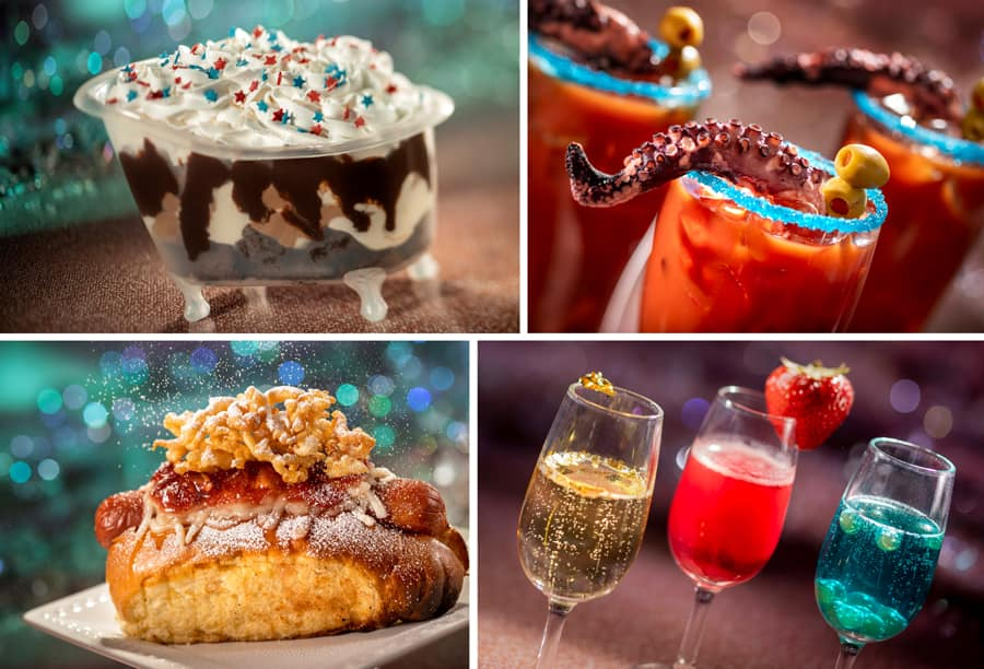 Collage of treats from Magic Kingdom Park during The World's Most Magical Celebration