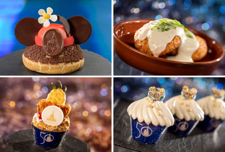 50th Anniversary Vintage Minnie's Brown Betty Profiterole, Spam-Cheddar Biscuits, and 50th Celebration Cupcakes