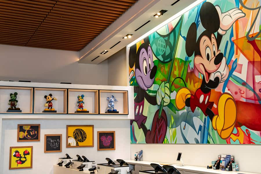 Mickey Mouse mural in Creations Shop at EPCOT