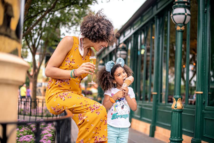 Mother and daughter at EPCOT International Food & Wine Festival