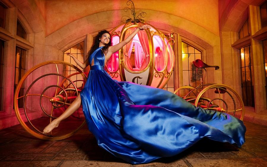 Cerise Calixte Disney Bounding as Cinderella at Disneyland Paris