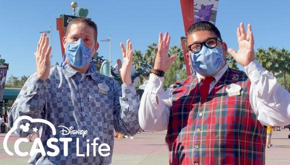 David and Jr. at the Disneyland Resort