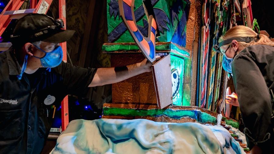 Haunted Mansion Holiday Gingerbread House at Disneyland Park