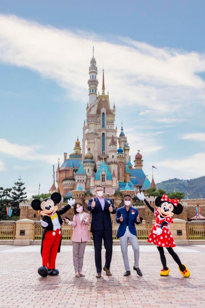Lily and Tony with Michael, President of Hong Kong Disneyland Resort