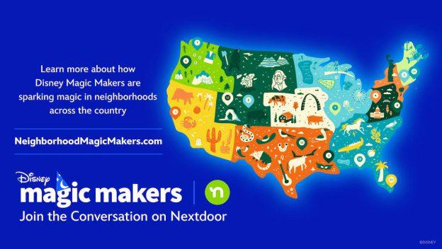 Graphic of Disney Magic Makers celebrating National Neighbor day