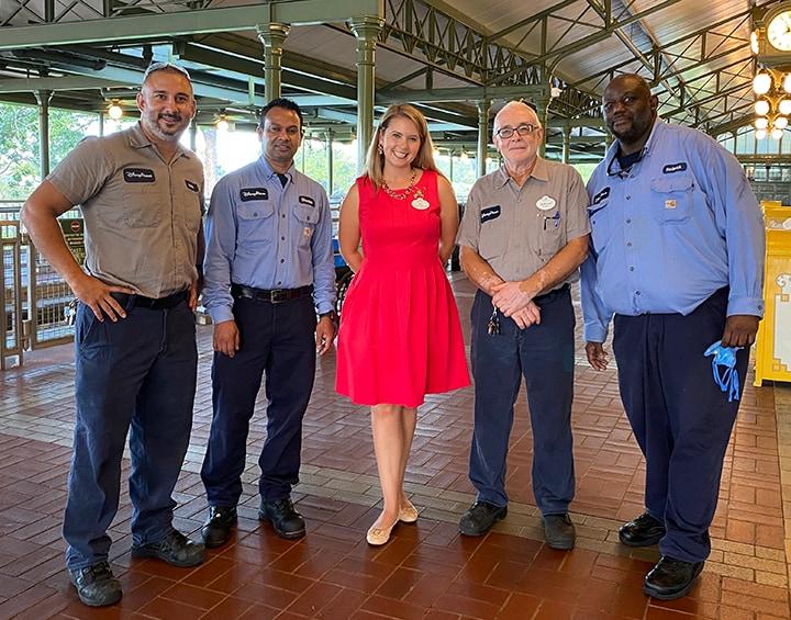Transportation Cast Members and Walt Disney World Ambassador Ali