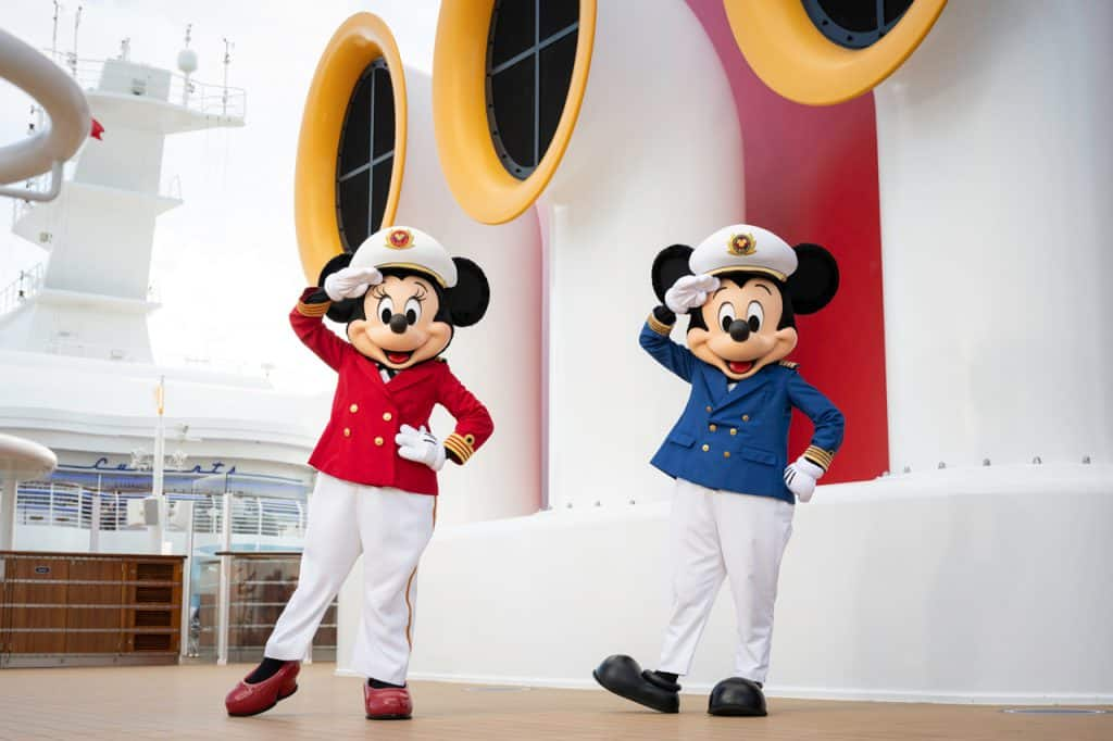 Minnie Mouse and Mickey Mouse Aboard Disney Cruise Line