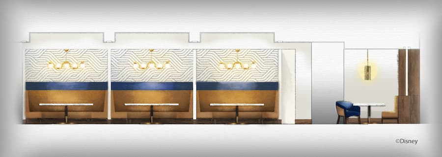 Rendering of the new Steakhouse 71, Opening Soon at Disney's Contemporary Resort