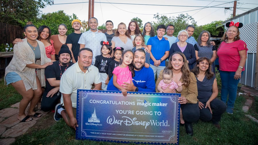 Disney Magic Maker Oscar Cabrera with his friends and family