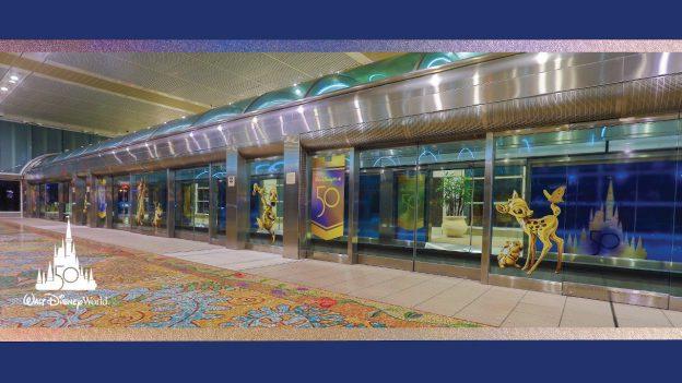 Orlando International Airport 50th Anniversary Walt Disney World Resort Decorations Revealed with EARidescent designs