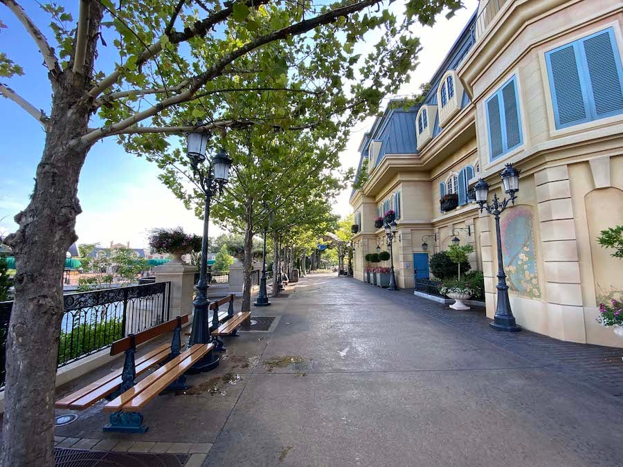 New area of the France pavilion at EPCOT