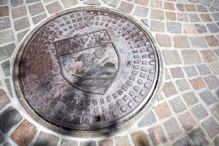 Manhole cover outside Remy's Ratatouille Adventure at EPCOT