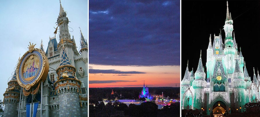 Collage of Cinderella Castle images