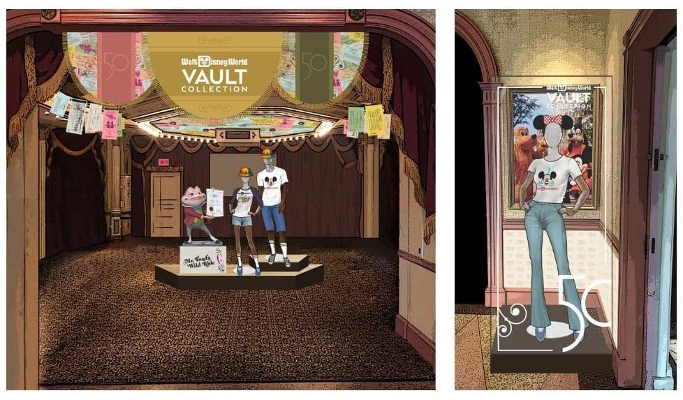 Representation of the Vault Collection shopping experience at Magic Kingdom Park