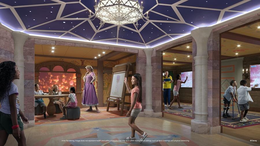Rendering of Disney's Oceaneer Club coming to the Disney Wish