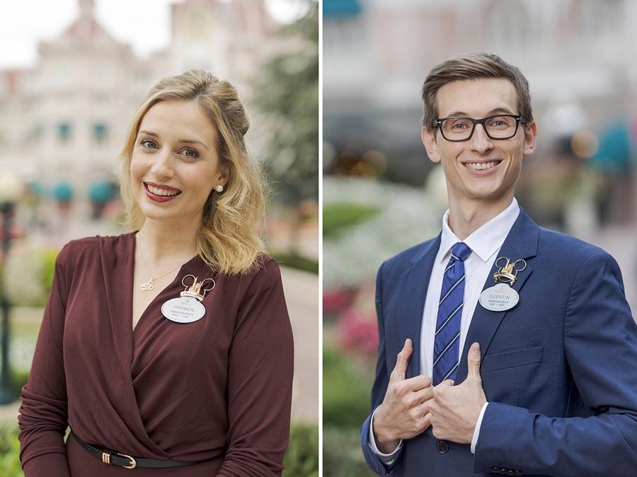 New Disneyland Paris Ambassadors, Carmen Lleo Badal and Quentin Rodrigues