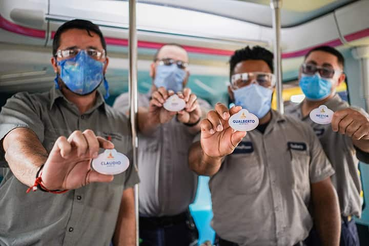 Third Shift Cast Members with new nametags