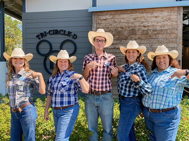 Tri-Circle-D Ranch Cast Members with new nametags