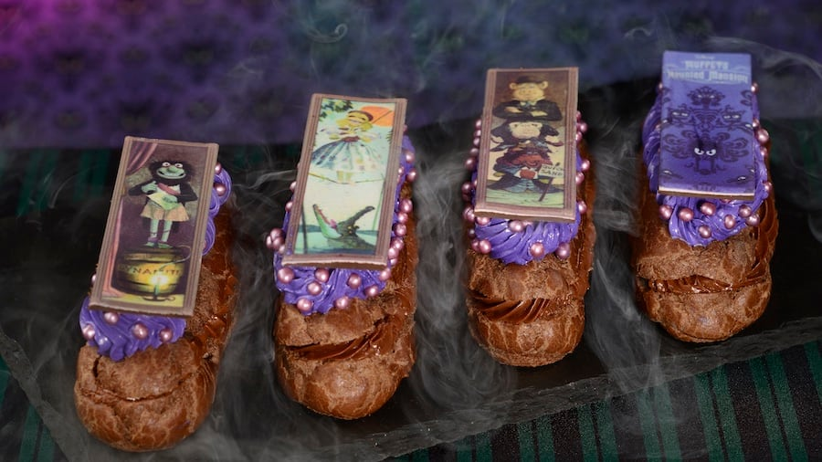 """Eclairs inspired by the Muppets stretching portraits featured in """"Muppets Haunted Mansion"""" available at Walt Disney World Resort"""