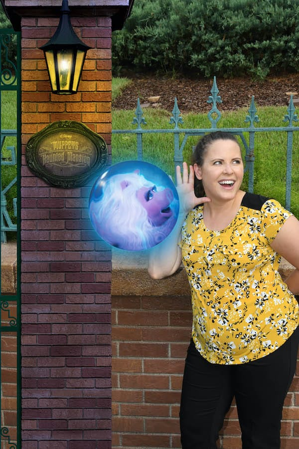 Special Magic Shot from Disney PhotoPass in front of the Haunted Mansion