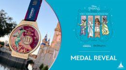 Graphic for the 2022 Disney Princess Half Marathon Weekend Medal Reveal