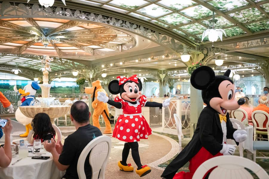 Characters on a Disney Cruise Ship