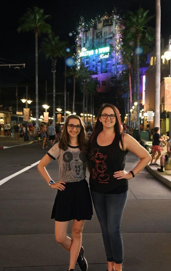 Disney PhotoPass Nighttime Icons Magic Shot at Disney's Hollywood Studios
