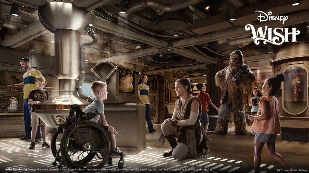 Disney Wish Star Wars: Cargo Bay - artist rendering