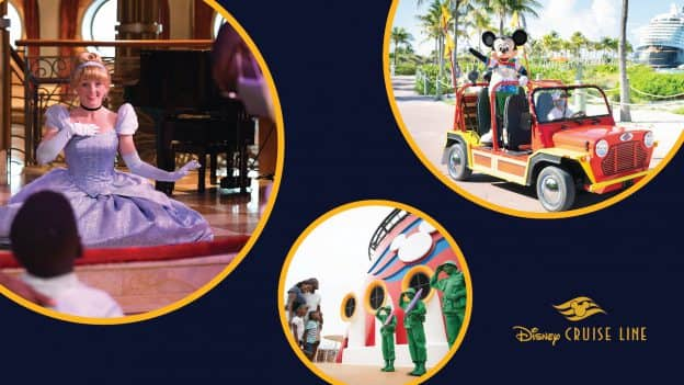 Collage of Entertainment on Disney Cruise Line