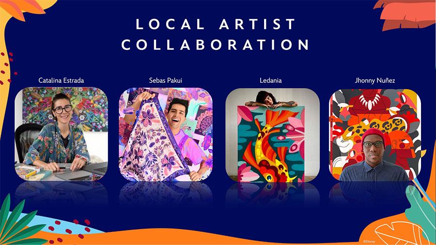 local artist collaboration Catalina Estrada, Sebas Pakui, Ledaria, and Jhonny Nunez