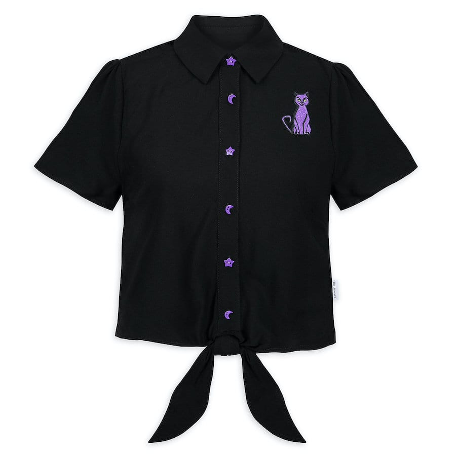 """""""Hocus Pocus""""-inspired button-up tie front shirt by Her Universe"""