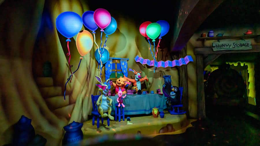 Scene from The Many Adventures of Winnie the Pooh attraction at the Disneyland Resort