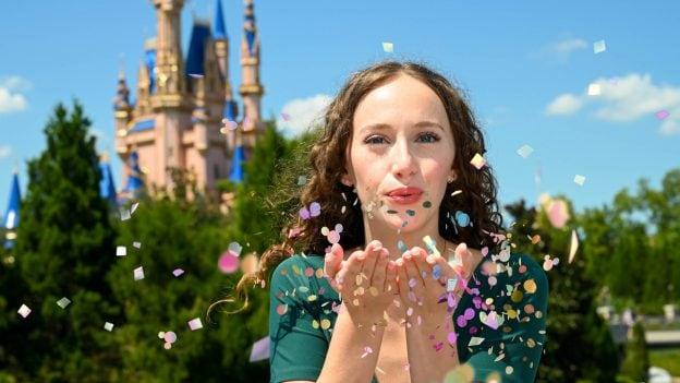 Disney PhotoPass Confetti Magic Shot at Magic Kingdom Park