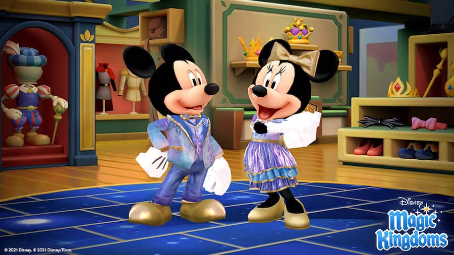 Mickey Mouse and Minnie Mouse in New features in Disney Magic Kingdoms